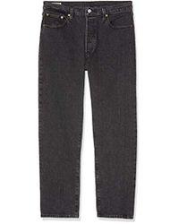 Levi's - 501 Crop Boyfriend Jeans Grey - Lyst
