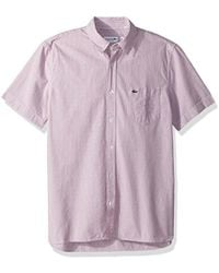 Lacoste - Short Sleeve Seersucker Button Down Collar Reg Fit Woven Shirt, Ch5007 - Lyst