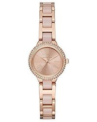 Michael Kors - 'taryn' Quartz Stainless Steel Casual Watch, Color:rose Gold-toned (model: Mk6582) - Lyst