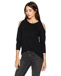 Kensie - Ponte Sweatshirt With Cold Shoulder - Lyst