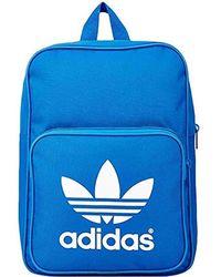 5c2bed4b8 adidas - Originals Mini Backpack Vintage Backpack Small Handbag Blue White  - Lyst