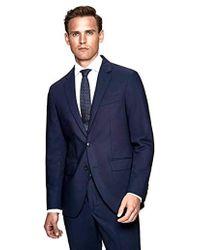 faf5f05cfe Hackett Pint Dot Peak Lapel Suit in Blue for Men - Lyst