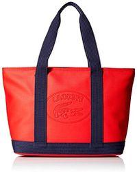 Lacoste - Medium Shopping Bag, Nf2416wm - Lyst