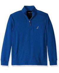 Nautica - Quarter-zip Fleece Sweatshirt - Lyst