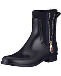 Tommy Hilfiger - Damen Material Mix Rain Boot Gummistiefel - Lyst