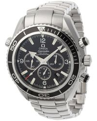 Omega - 2210.50.00 Seamaster Planet Ocean Automatic Chronometer Chronograph Watch - Lyst