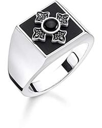 Thomas Sabo - Unisex anello in argento Sterling 925, annerito TR2209 - 641 - 11 - Lyst