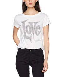 Love Moschino - Short Sleeve T-shirt Applications - Lyst