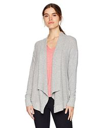 Michael Stars - Madison Brushed Jersey Long Sleeve Open Front Cardigan - Lyst