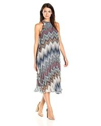 BCBGeneration - Printed Pleated Midi Dress - Lyst