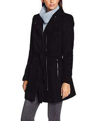 Vero Moda - Call Rich 3/4 Sleeve Wool Coat With Tie Waist - Lyst