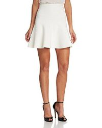 BCBGMAXAZRIA - Ingrid Knit Fit And Flare Skirt - Lyst