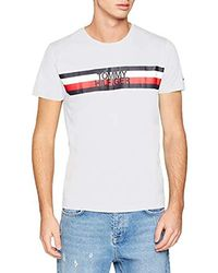 Tommy Hilfiger Tommy Logo Tee T-Shirt Homme - Blanc