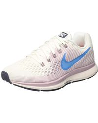 cdd316884cae9 Nike Air Zoom Pegasus 34 W Women s Running Trainers In White in ...