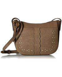 Frye - Ilana Perf Zip Crossbody Bag Oiled Veg - Lyst