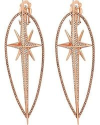 Michael Kors - S Starburst Pave Statement Earrings - Lyst