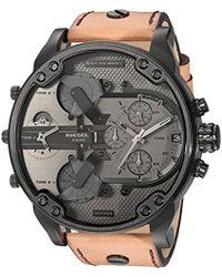 DIESEL - Homme Chronographe Quartz Montre avec Bracelet en Cuir DZ7406 - Lyst