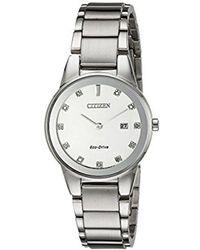 Citizen - Eco-drive Axiom Watch With Diamond Accent, Ga1050-51b - Lyst