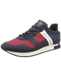 Tommy Hilfiger - Printed Material Mix Runner Low-top Sneakers - Lyst