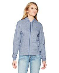 Lacoste - Sport Long Sleeve Hooded Fleece Pocket Sweatshirt, Sf1550 - Lyst