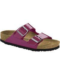 666c36db5f1a Birkenstock Floral-Print Arizona Sandals in Pink - Lyst