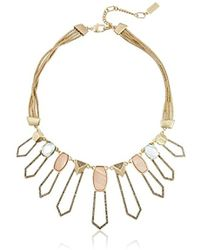 """Kenneth Cole - """"tectonic Plates"""" Pave Shell Geometric Open Statement Necklace - Lyst"""