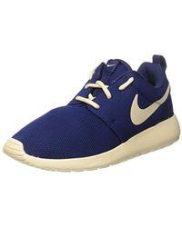 d2afa8ddf37a Nike Obsidian Cameo Print Roshe One Hi-top Trainers in Blue - Lyst
