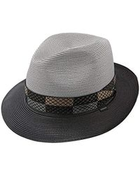 11d1cc4a16b Lyst - Stetson Latte Florentine Milan Straw Hat in White for Men