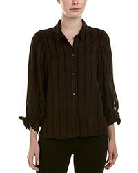 ea4ce581 BCBGeneration 80s Sleeve Oversized Button Down (coffeebean Combo ...