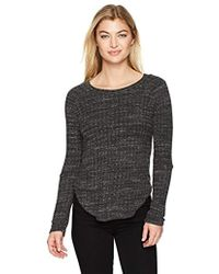 Monrow - Sweater Rib Top With Elbow Slash - Lyst