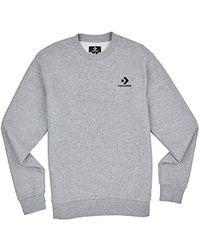 Converse Herren Star Chevron Emb Crew Sweatshirt - Grau