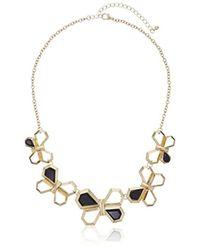 Kensie - 5 Geo Butterfly Statement Necklace - Lyst