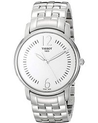 Tissot - T052.210.11.037.00 Silver Dial Lady Round Watch - Lyst