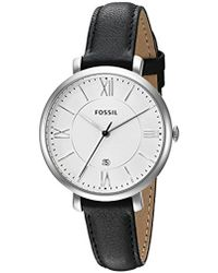 Fossil - Jacqueline Three-hand Date Leather Watch - Lyst