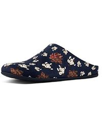 e9cf33b33 Fitflop Chrissie Womens Shearling Navy Slippers in Blue - Lyst