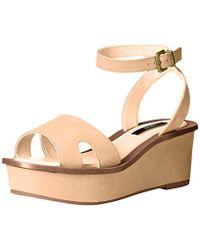 871dccb888e Lyst - Kensie Boston Snake-print Platform Sandals