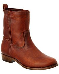 Frye - Cara Short Leather Boot - Lyst