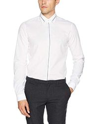 Calvin Klein - Padua Extra Slim Fit, Camicia Formale Uomo, Bianco (White 100), Large - Lyst