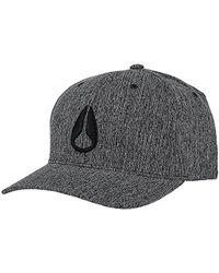 Nixon - Deep Down Athletic Textured Hat - Lyst