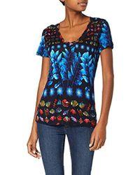 Desigual - T-Shirt Short Sleeve Erika Woman Blue, Camiseta para Mujer - Lyst