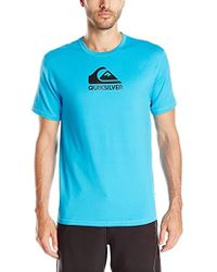 Quiksilver - Solid Streak Short Sleeve Rashguard Swim Shirt - Lyst