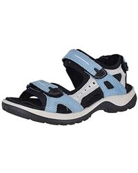 81d939f898d6 Lyst - Ecco Yucatan Outdoor Offroad Hiking Sandal in Black - Save 4%