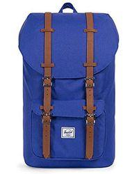 c5d75409190 Lyst - Herschel Supply Co. Little America Backpack Peacoat  Navy ...