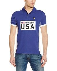 U.S. POLO ASSN. - Sporty Authentic Slim Fit Pique Polo Shirt - Lyst