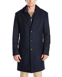 Lacoste - Wool Overcoat - Lyst
