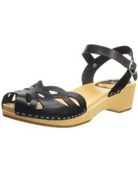 Swedish Hasbeens - Ornament Clog Sandal - Lyst