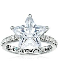 "Betsey Johnson - ""betsey Blue"" Cubic Zirconia Star Stone Ring Size 7 - Lyst"