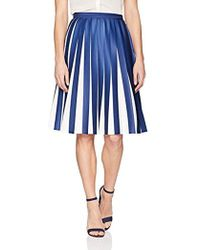 Lacoste - Pleated Jersey Colorblock Skirt - Lyst
