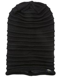 Woolrich - Acrylic Links Rib Knit Slouchie Beanie - Lyst