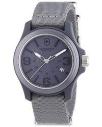 Victorinox - Swiss Army 241515 Original Grey Dial And Strap Watch Watch - Lyst